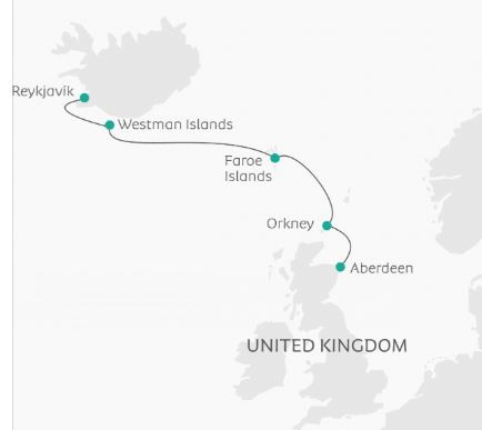 Map for Venturing Through the North Atlantic (Ocean Atlantic)