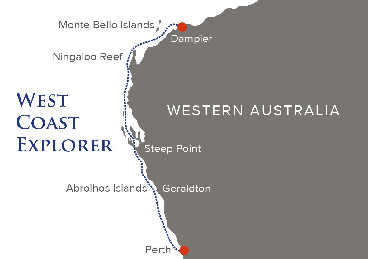 Map for Australia: West Coast Explorer