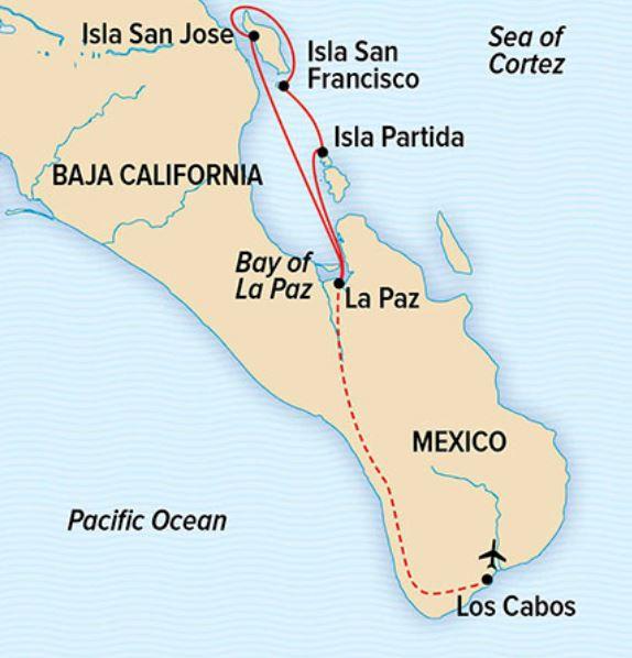 Map for Wild Baja Escape: Serenity & Sea Life in the Sea of Cortez