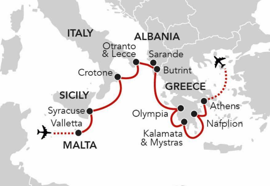 Map for Wonders of the Ancient World (Serenissima)