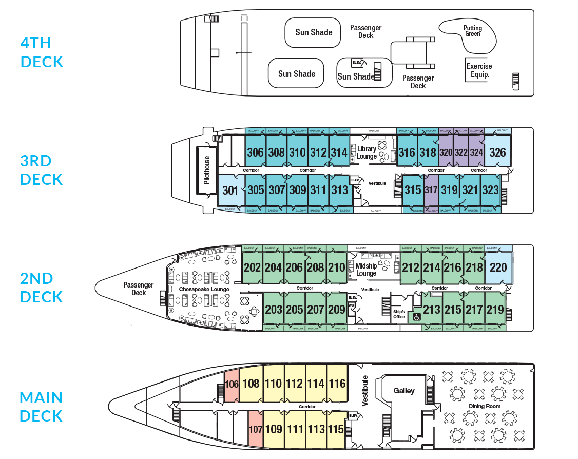 Cabin layout for Independence