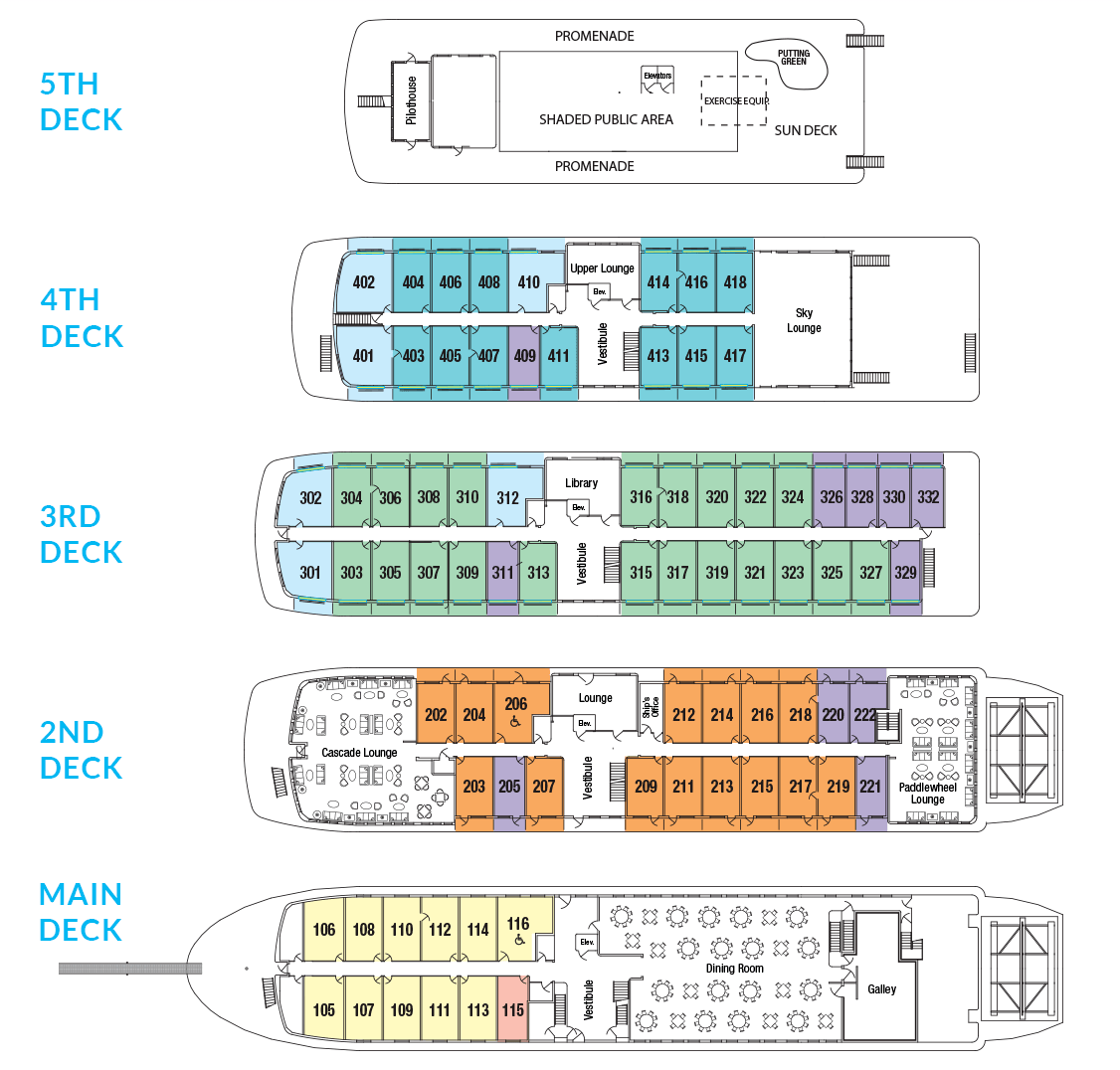Cabin layout for American Pride