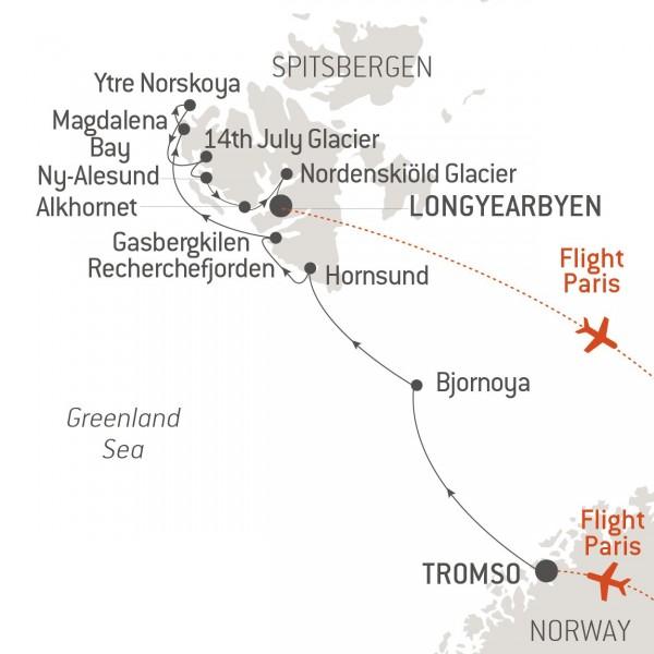 Map for Pristine Spitsbergen