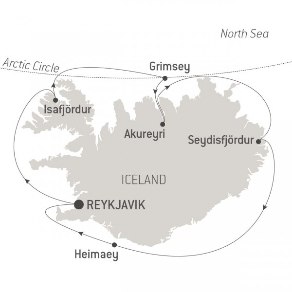 Map for The Icelandic Loop (Le Champlain)