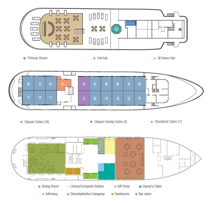 Cabin layout for Isabella II