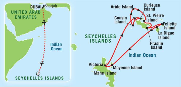 The Seychelles Dubai - Map of seychelles world
