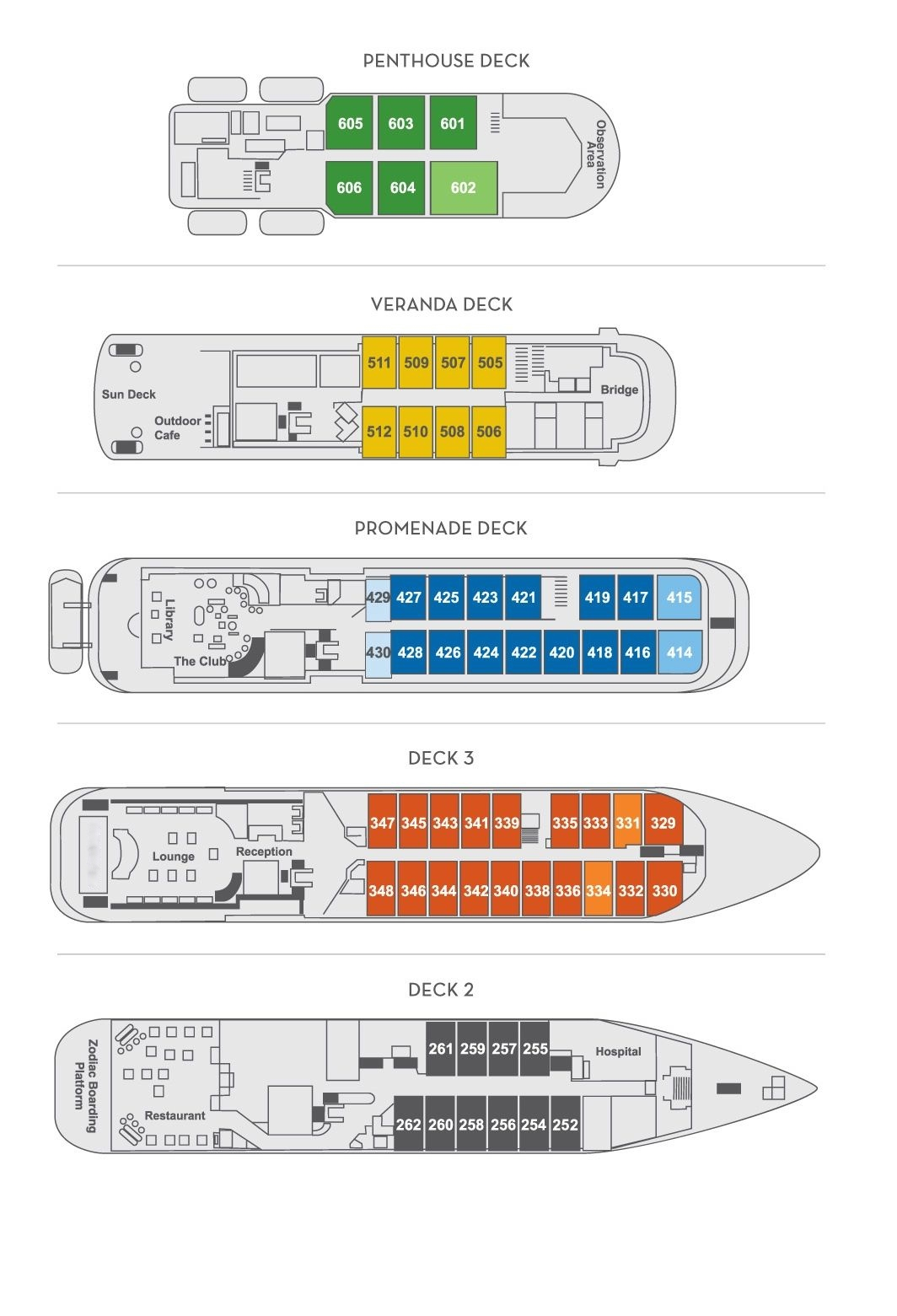 Cabin layout for Hebridean Sky
