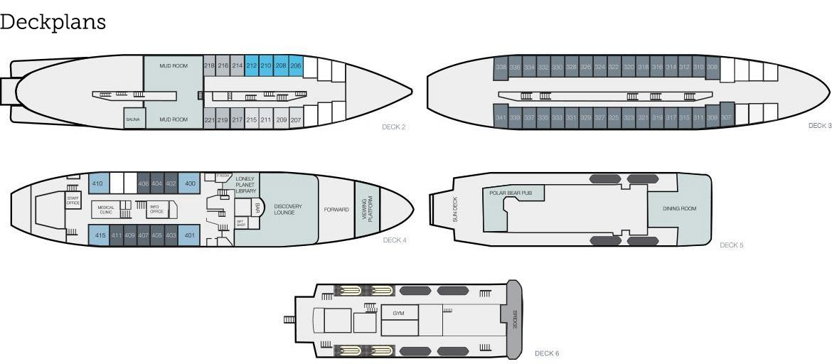Cabin layout for Expedition