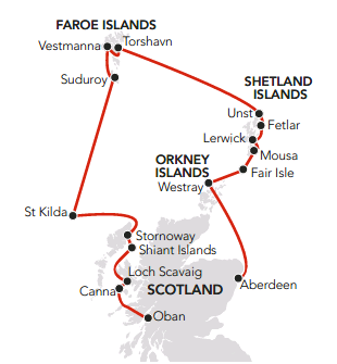 Map for Atlantic Islands Odyssey 2019