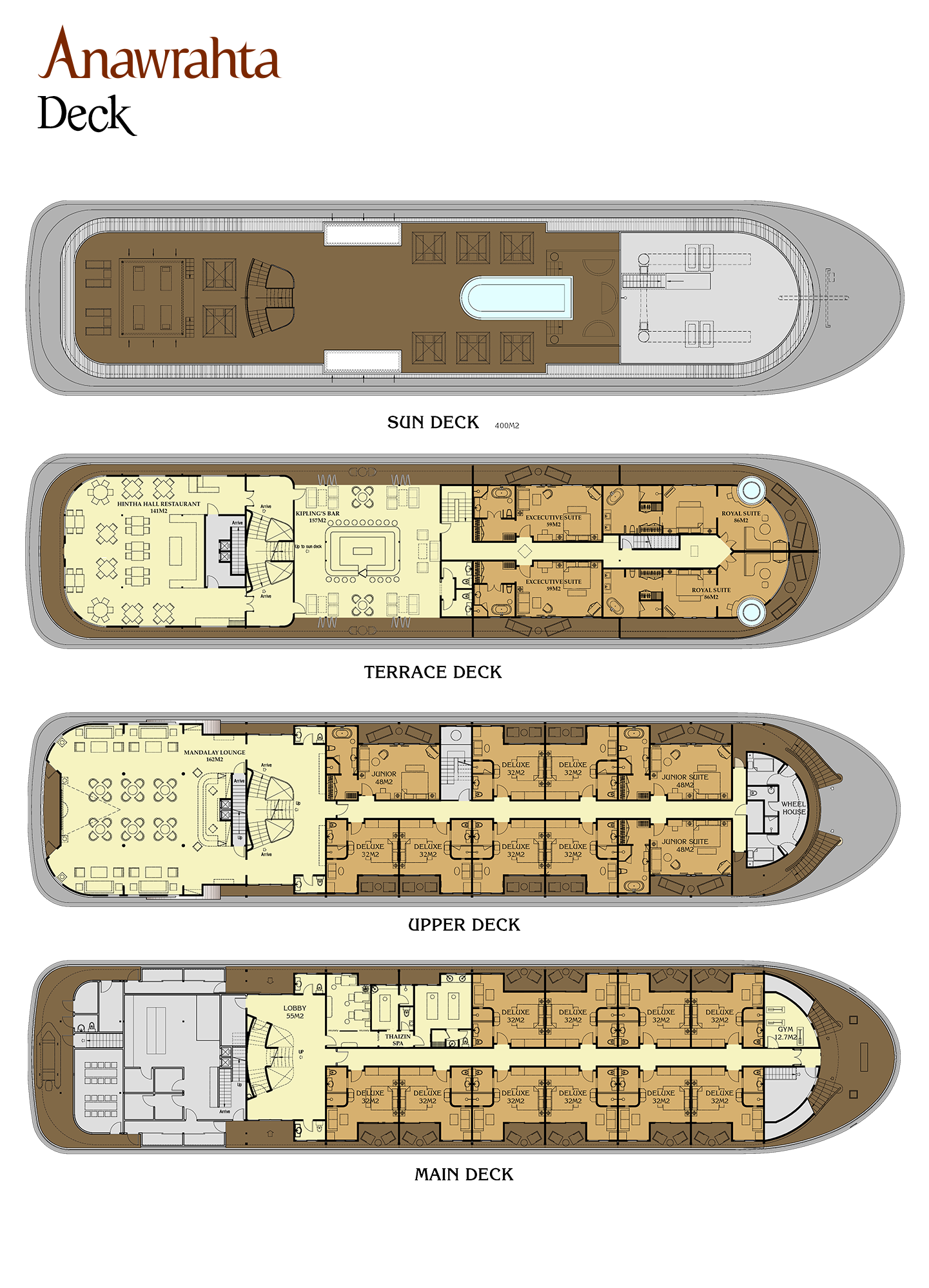 Cabin layout for Anawrahta