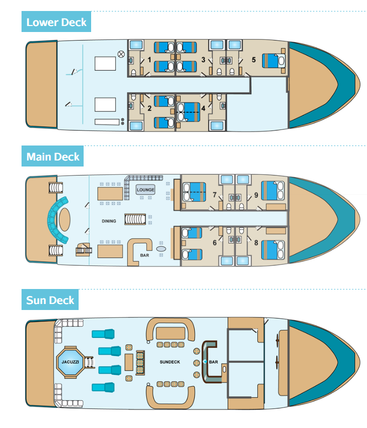Cabin layout for Majestic