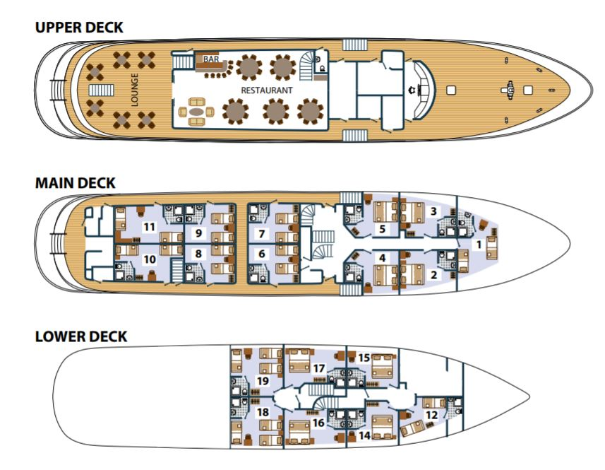 Cabin layout for Karizma & Princess Aloha