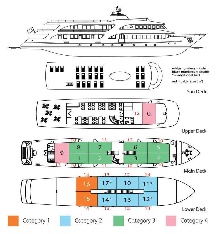 Cabin layout for Royal Eleganza