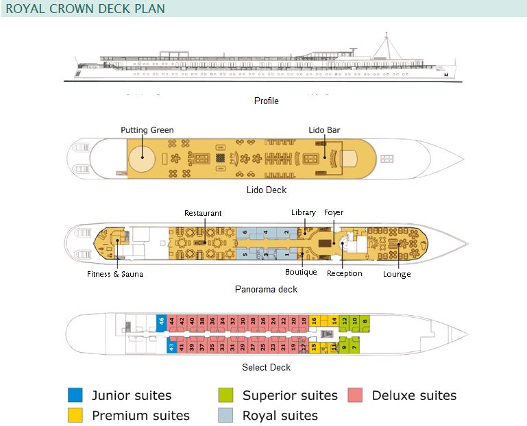 Cabin layout for Royal Crown