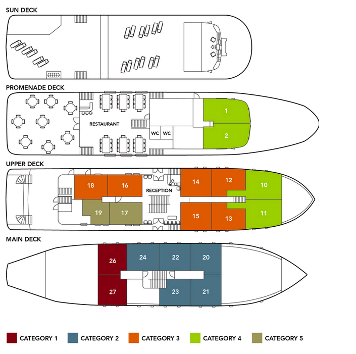 Cabin layout for Princess Eleganza