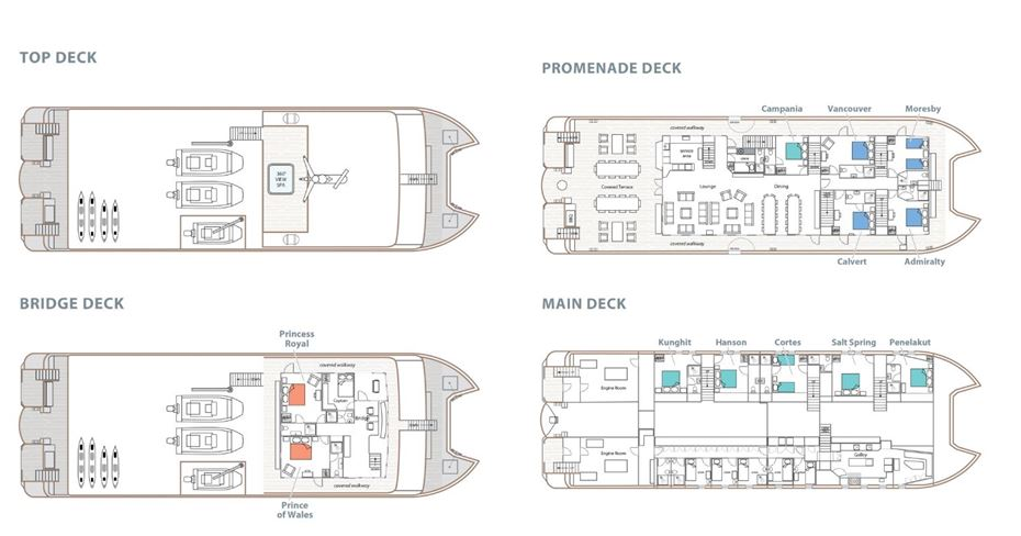 Cabin layout for Cascadia