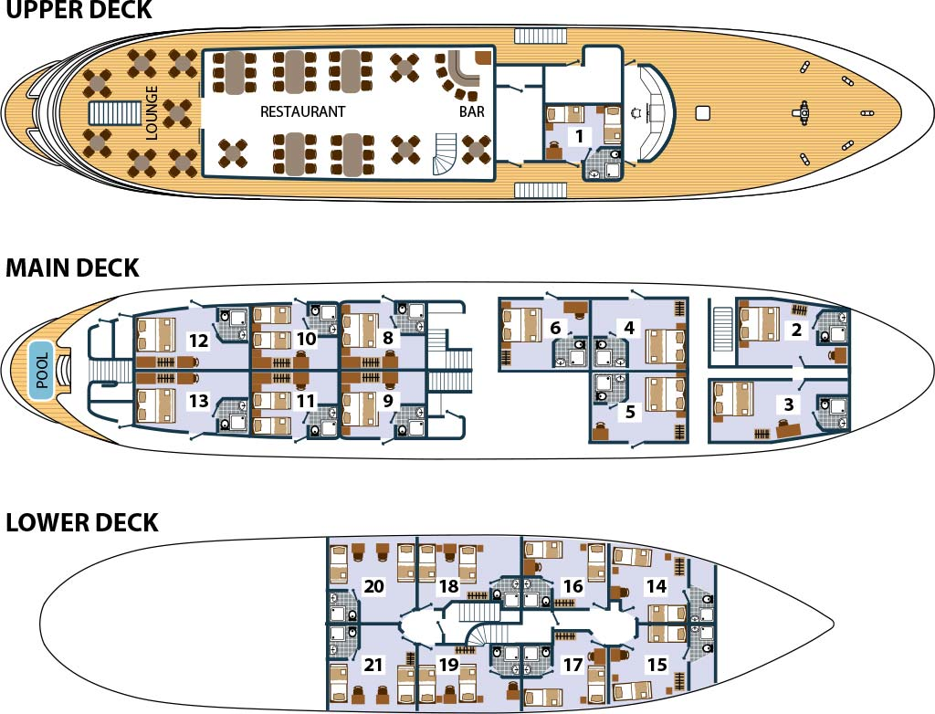 Cabin layout for Prestige