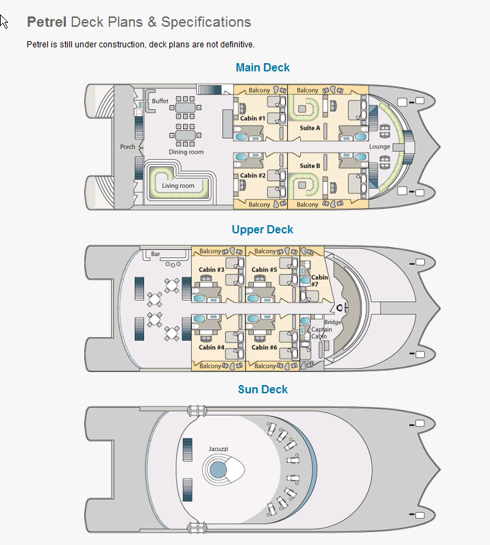 Cabin layout for Petrel