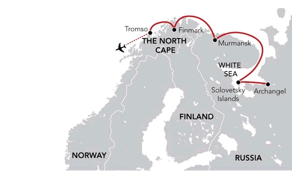 Map for Exploring the White Sea