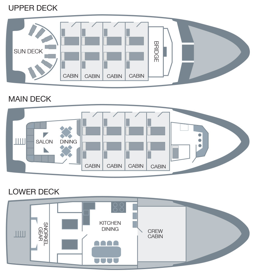 Cabin layout for San Jose