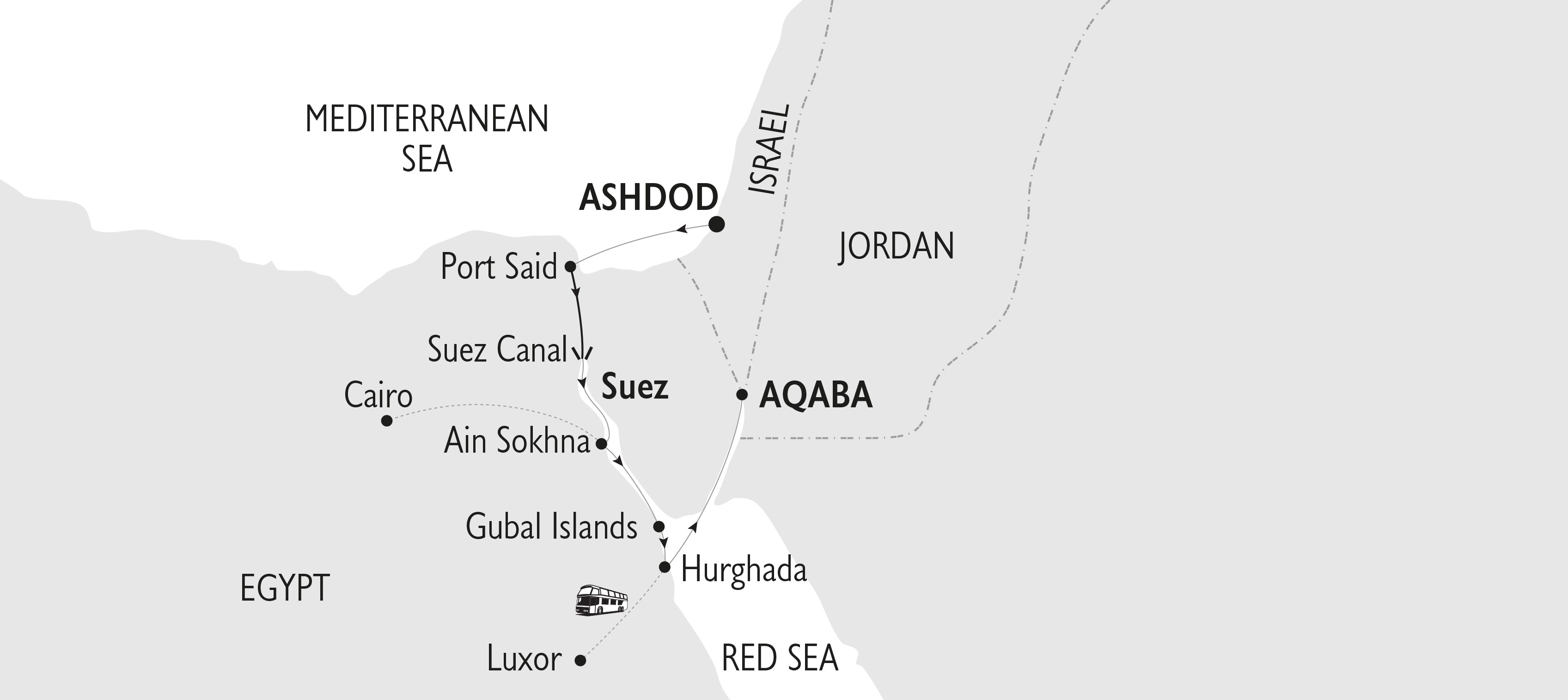 Map for Gods, Kings and Pharaohs - 8 Days