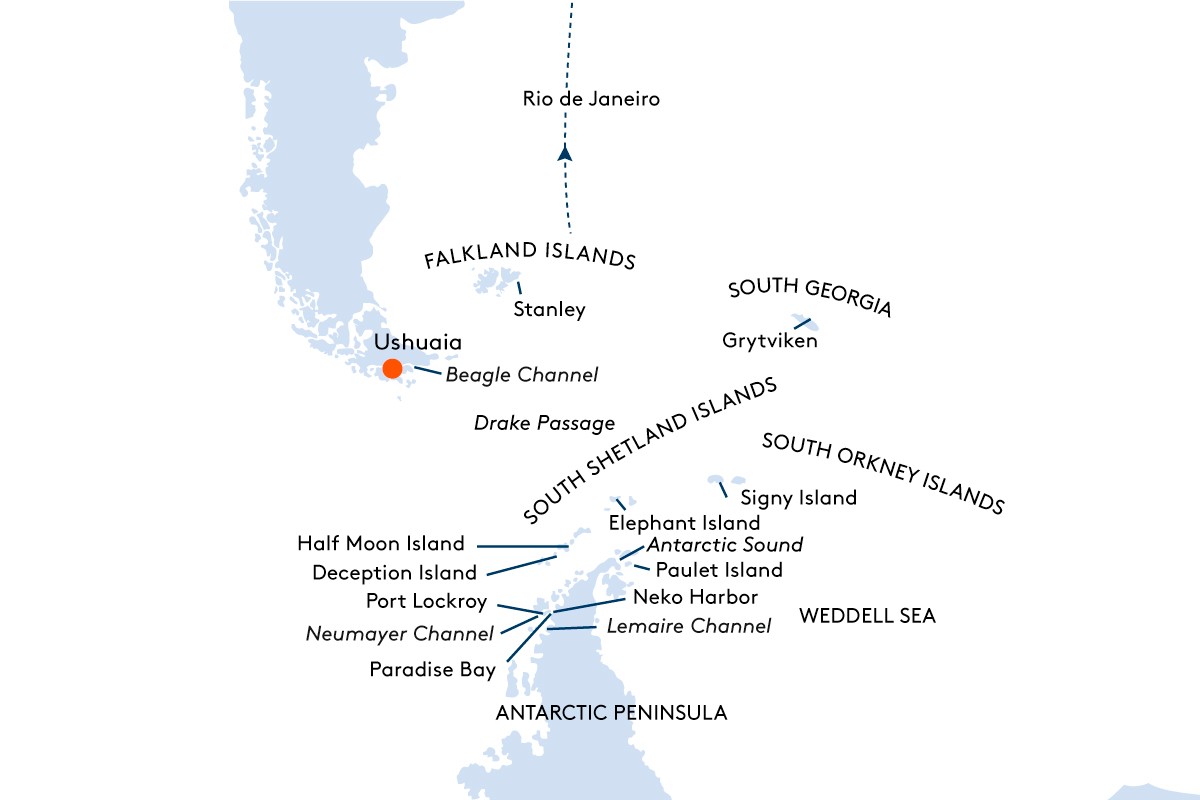 Map for Antarctica - the World's Most Exciting Nursery