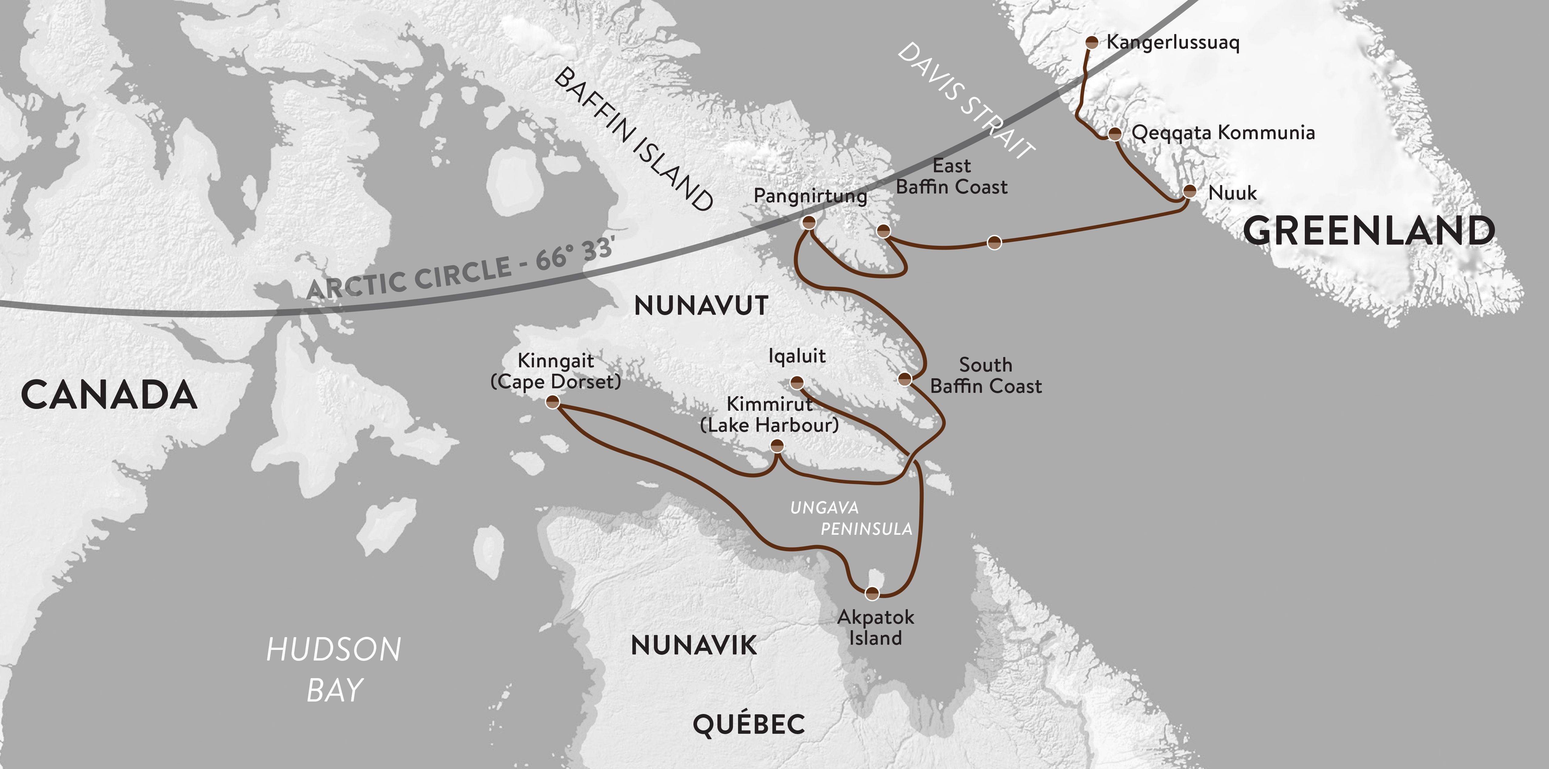 Map for Heart of the Arctic