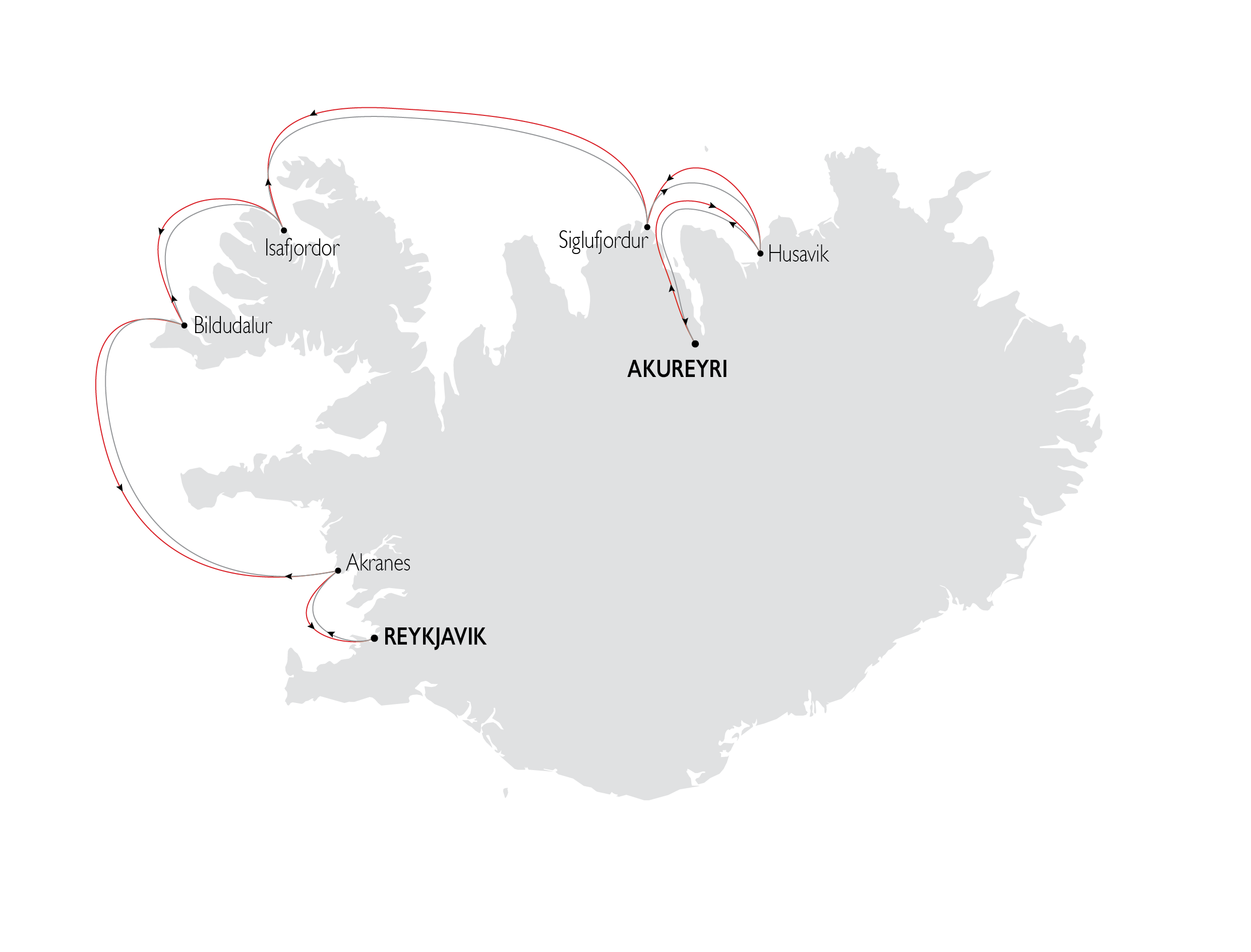 Map for The Icelandic Saga: West & North