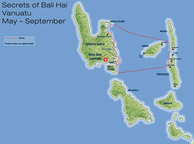 Map Of Vanuatu. Map for Vanuatu#39;s Blue Jade
