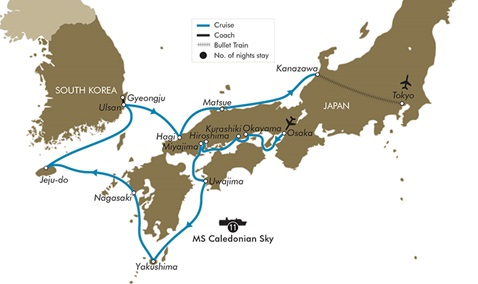 Map for Treasures Of Japan