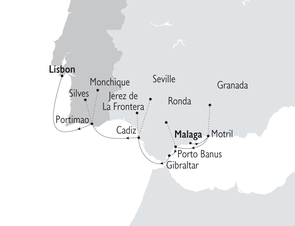 Map for Spain & Portugal (Harmony G)