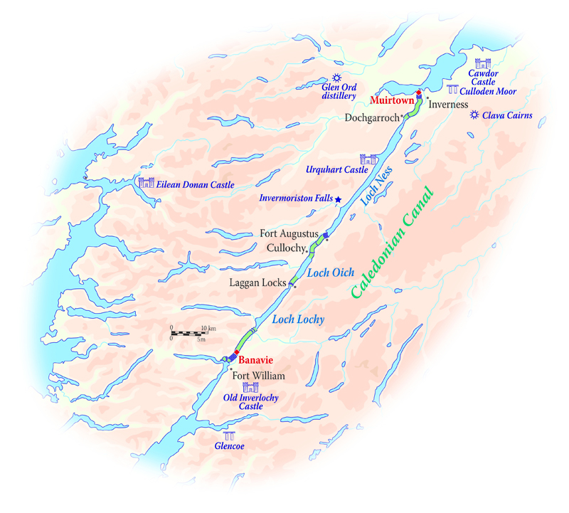 Map for Scotland River Cruise (Scottish Highlander)