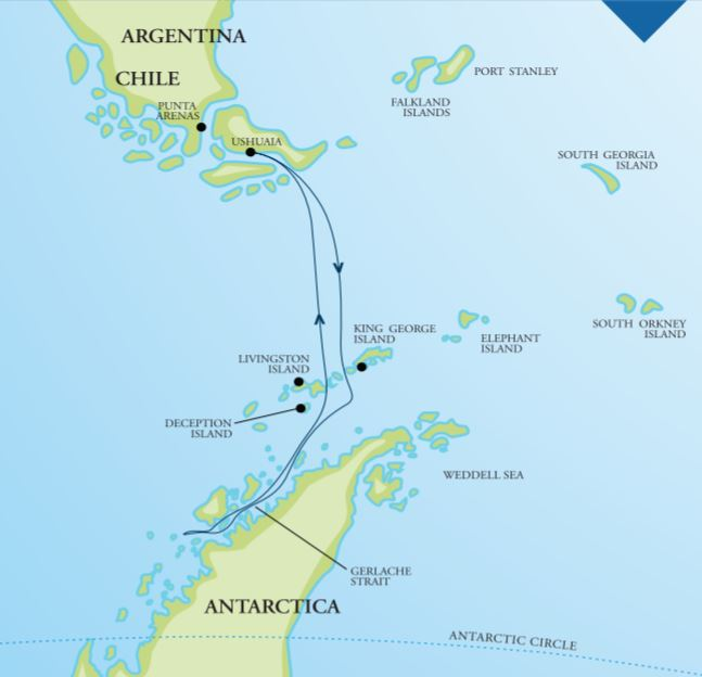Map for Antarctica - Off the Beaten Track