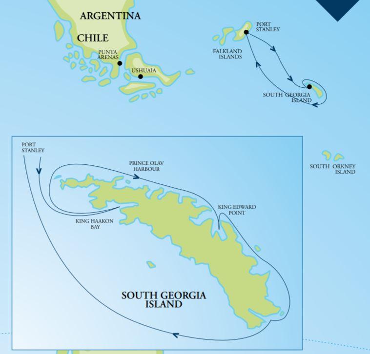 Map for South Georgia – In Depth (RCGS Resolute)