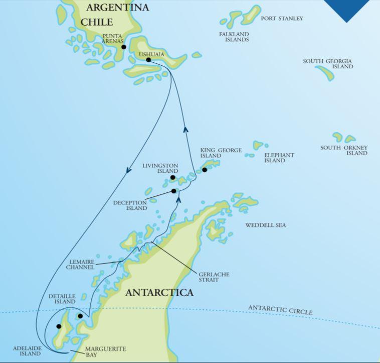 Map for Antarctica - Deep South 2020