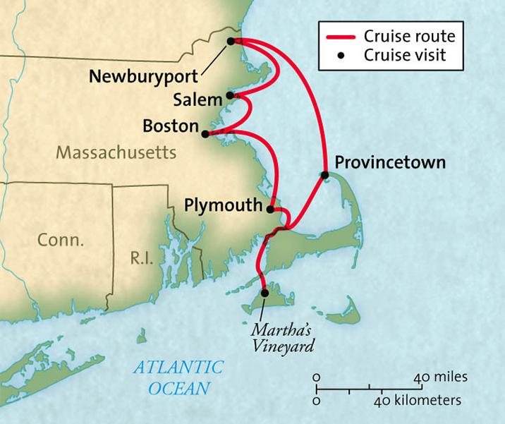 Map for Massachusetts Sampler (Grande Mariner)