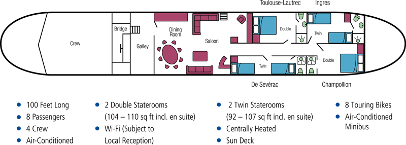 Cabin layout for Rosa
