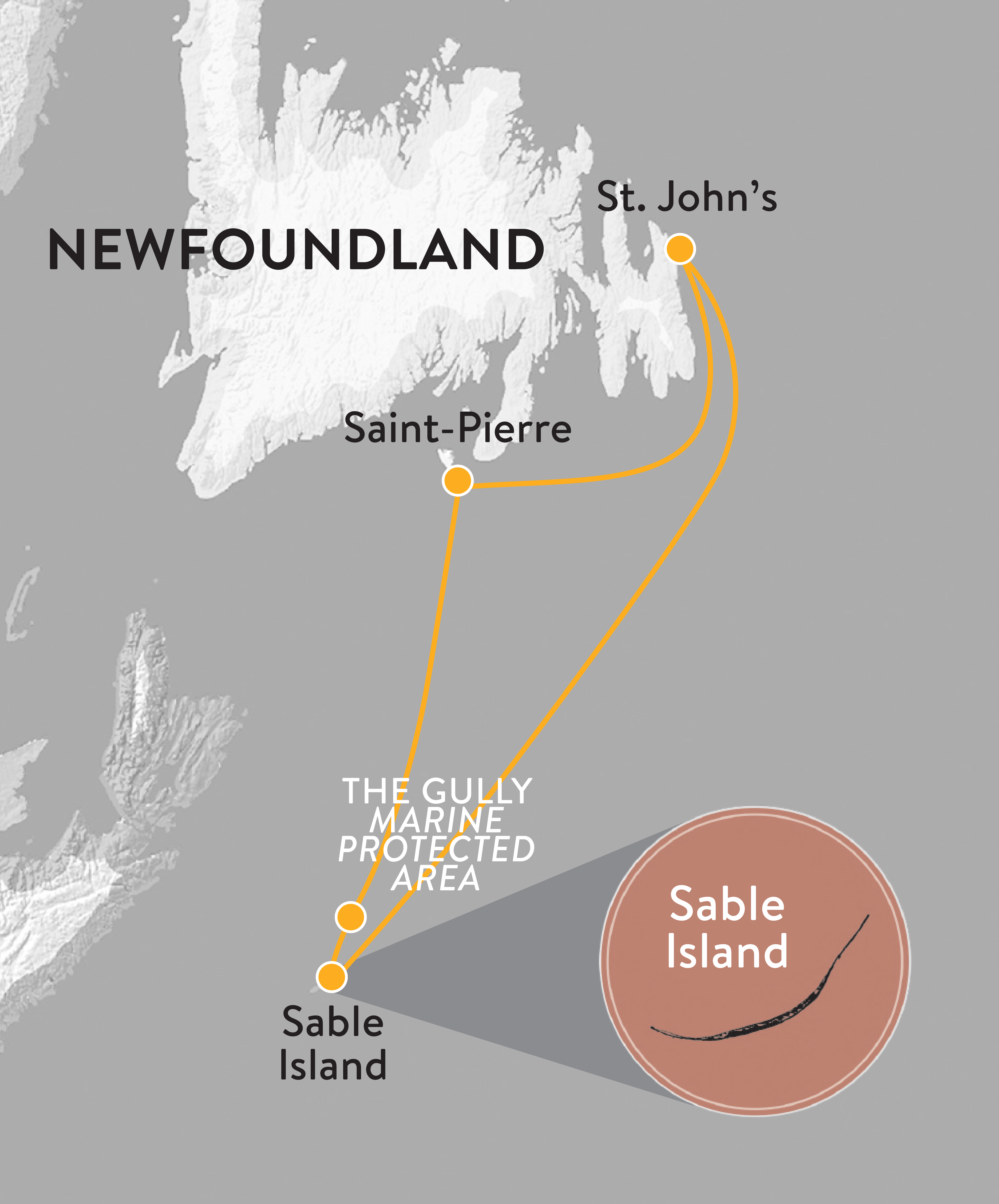 Map for Sable Island