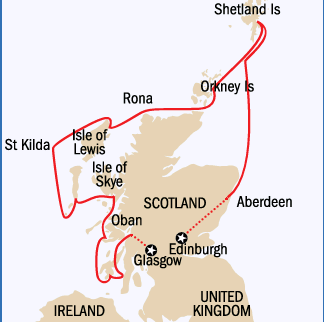 Map for Scotland In Depth 2020: An Exclusive Wild Earth Charter