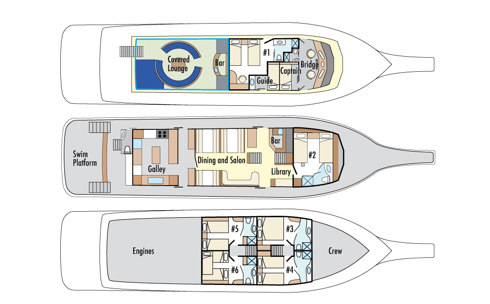 Cabin layout for Reina Silvia