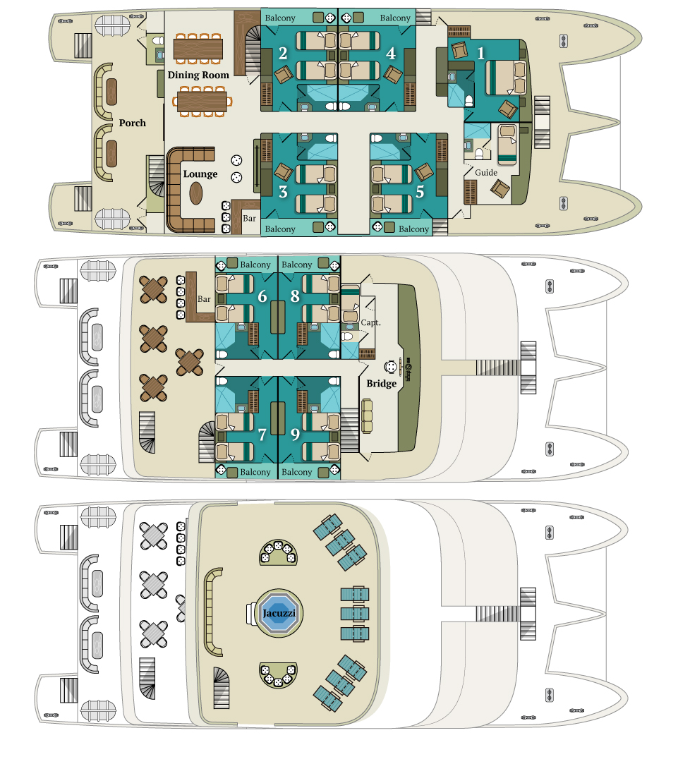 Cabin layout for Alya