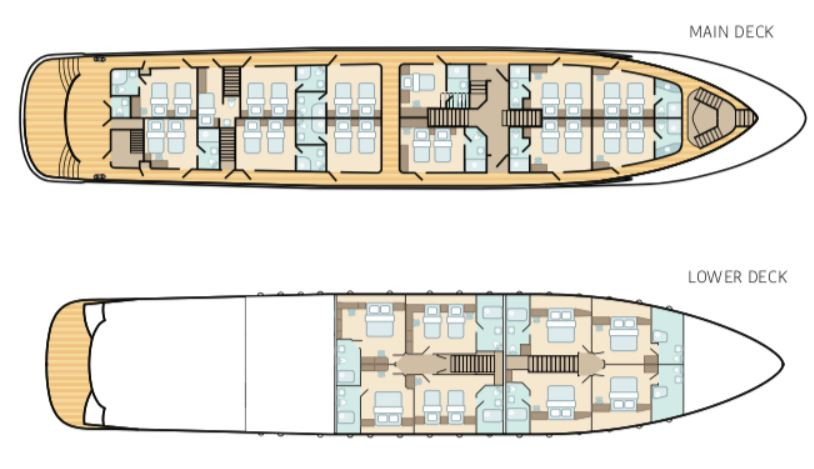 Cabin layout for Adriatic King