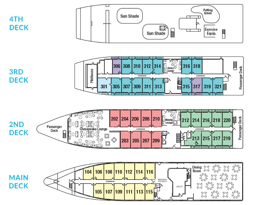 Cabin layout for American Spirit