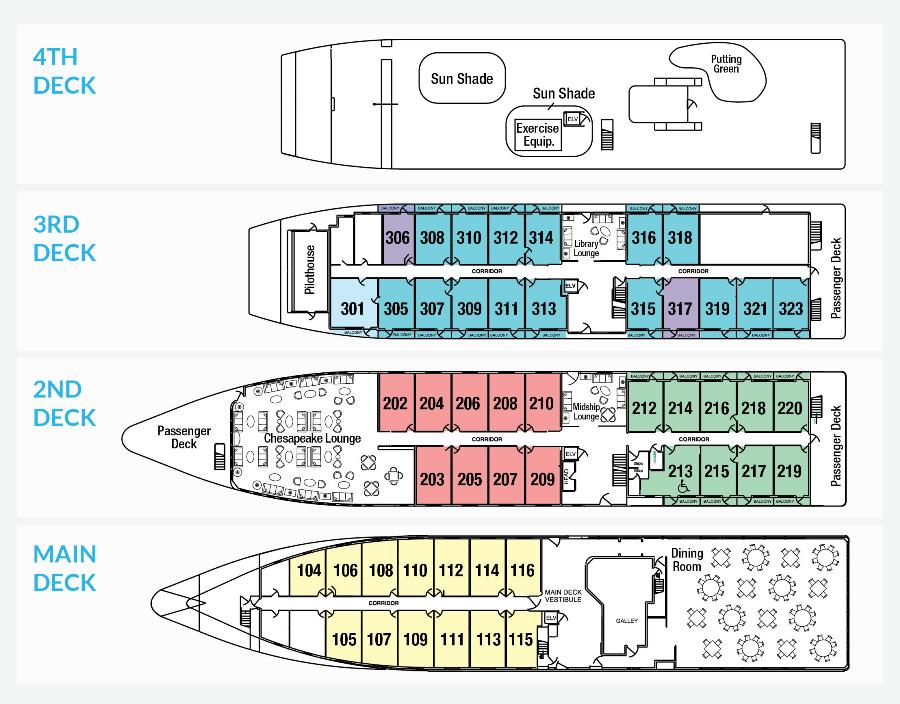 Cabin layout for American Star