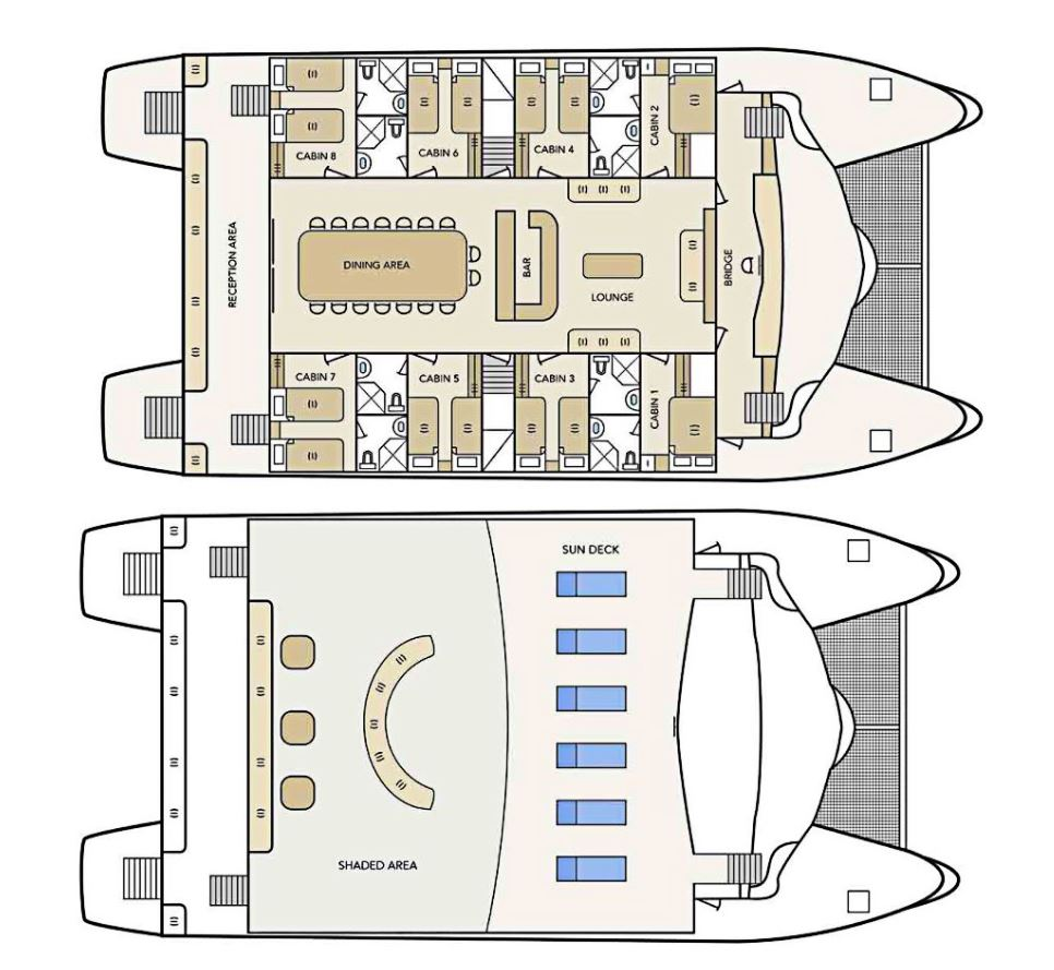 Cabin layout for Archipel I