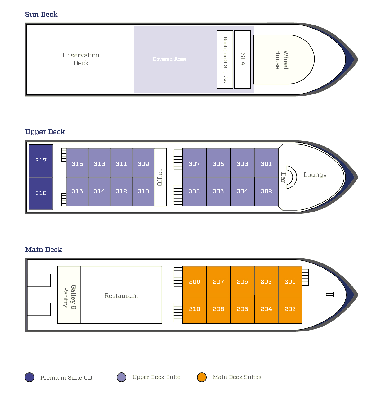Cabin layout for Bengal Ganga