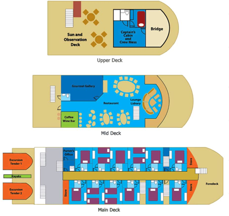 Cabin layout for Discovery