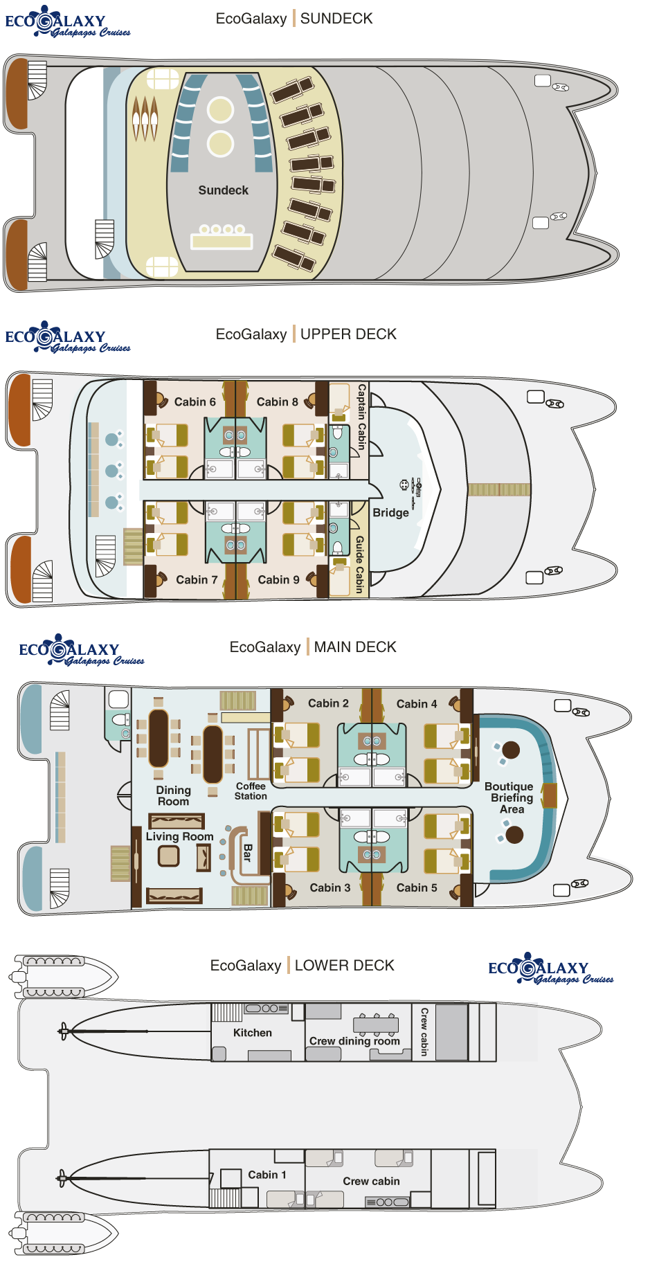 Cabin layout for Eco Galaxy