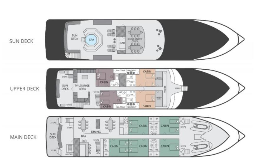 Cabin layout for Grand Queen Beatriz