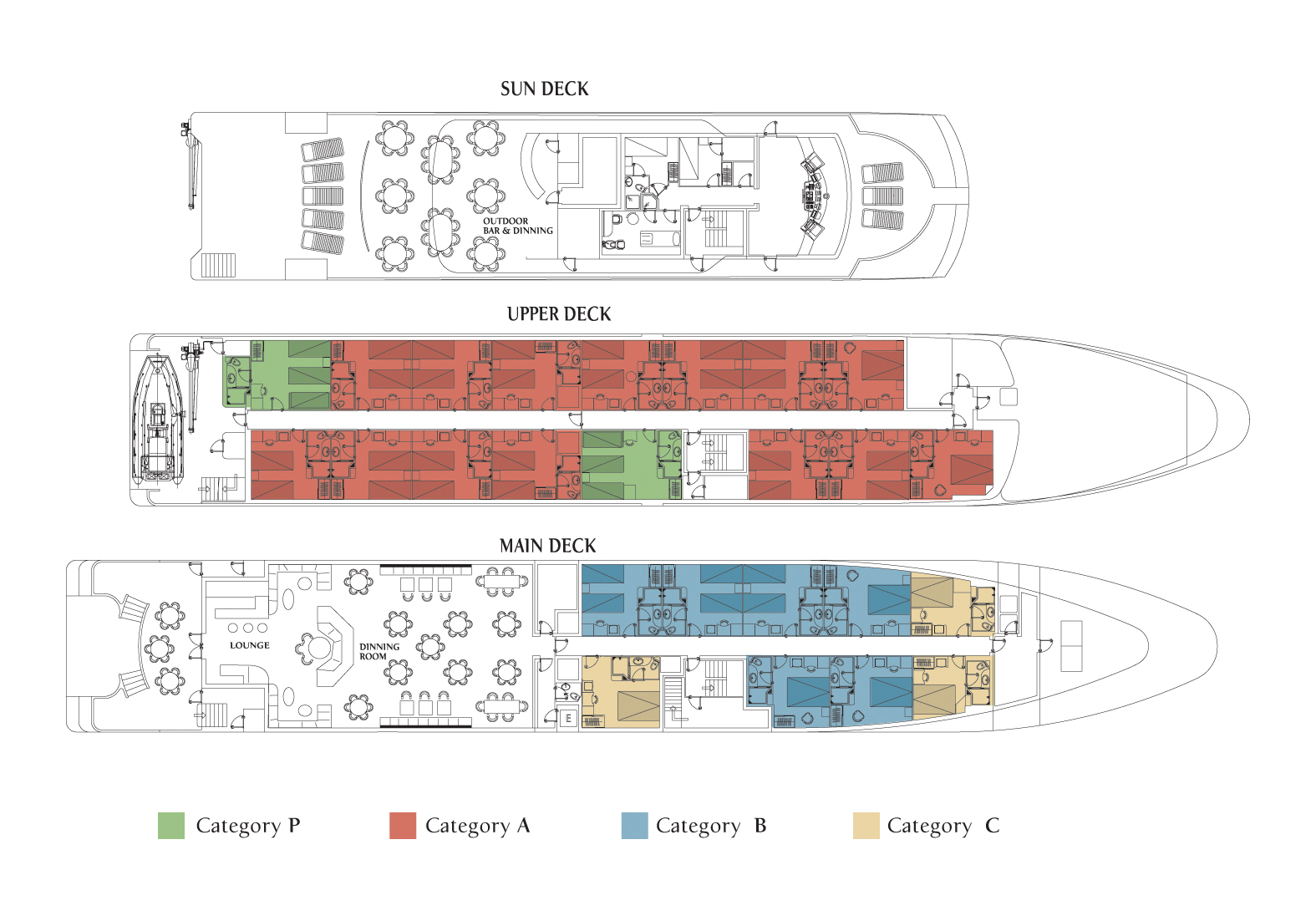 Cabin layout for Harmony V